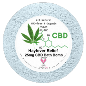 Hay Fever CBD Hemp Oil Aromatherapy Bath Bomb - 25mg